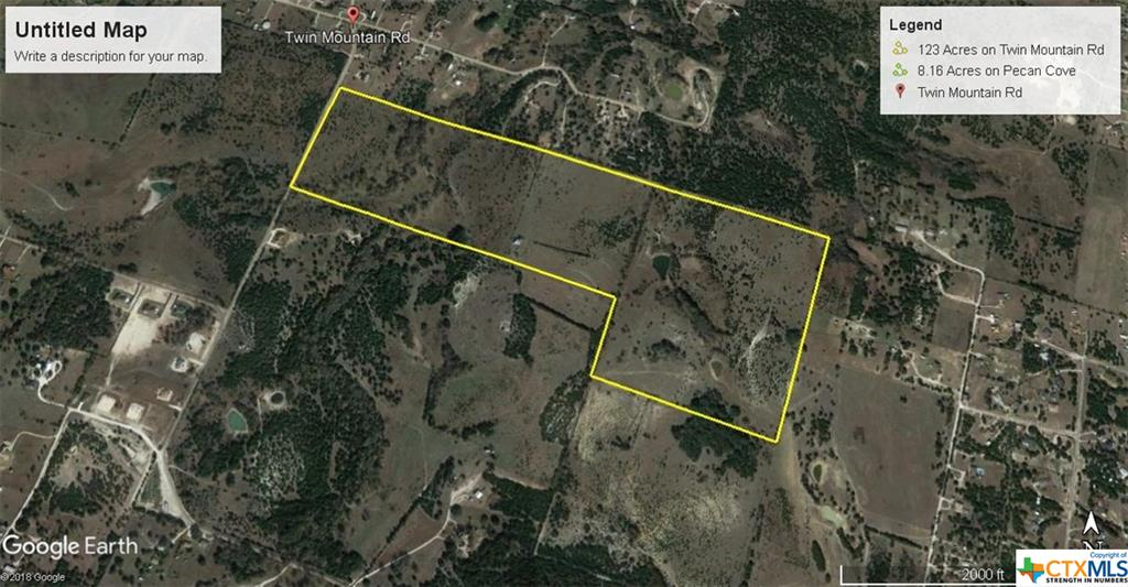 123 Acres Twin Mountain Road Property Photo - Copperas Cove, TX real estate listing