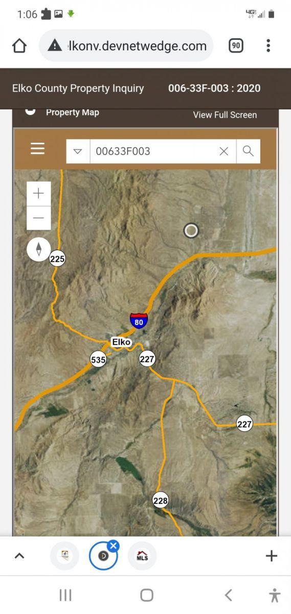 SEC 26 TWP 36N RGE 56E MDB&M Property Photo - Ryndon, NV real estate listing