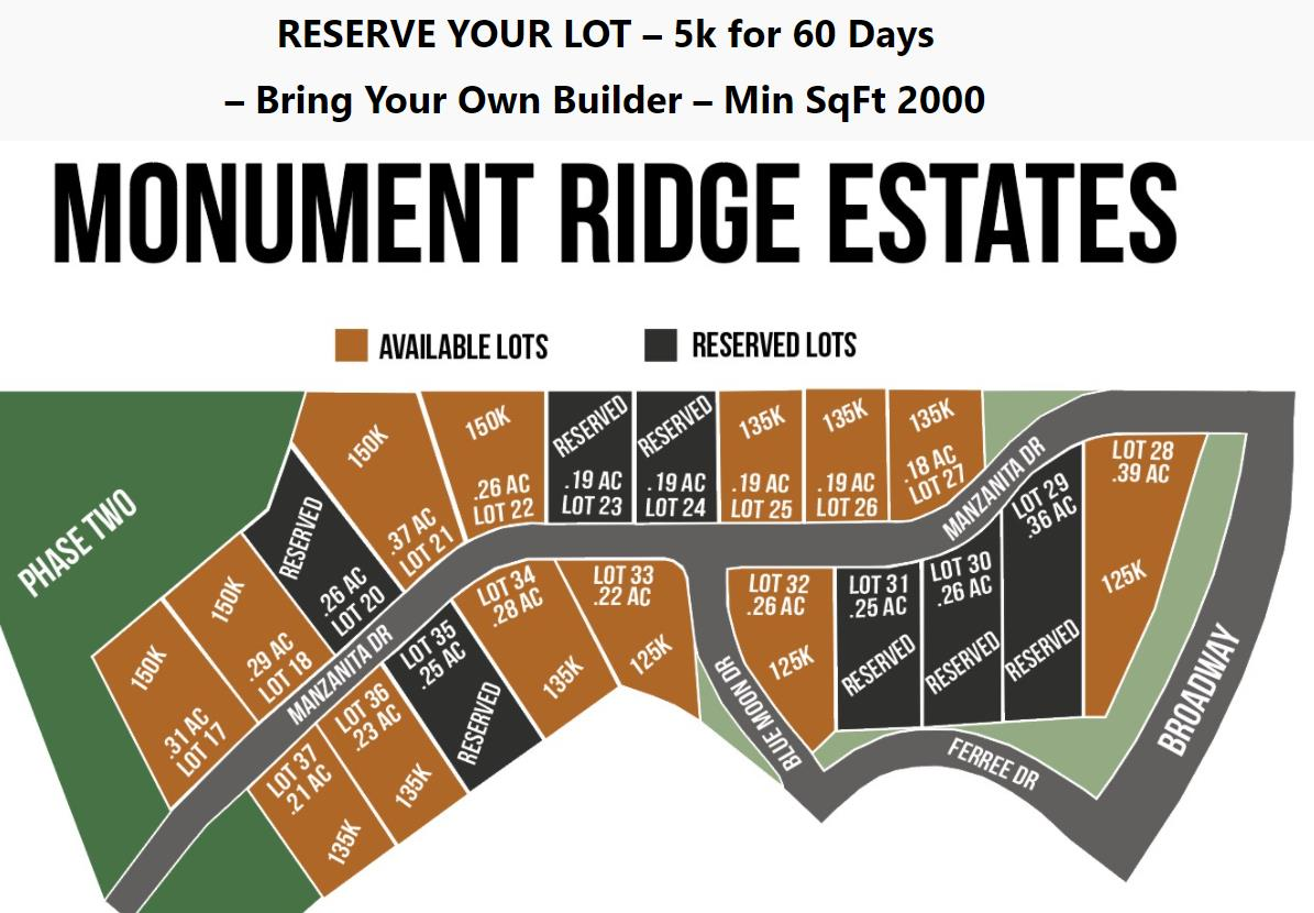 Monument Ridge Estates Real Estate Listings Main Image