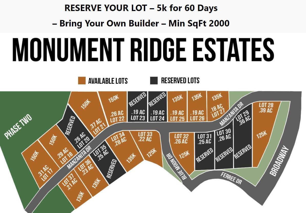 Monument Ridge Estates Real Estate Listings Main Image
