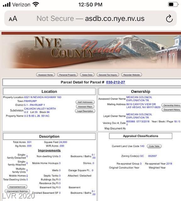 6521 N Nevada Hwy 160 Property Photo