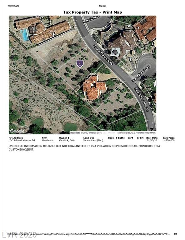 5 Grand Miramar Drive Property Photo - Henderson, NV real estate listing