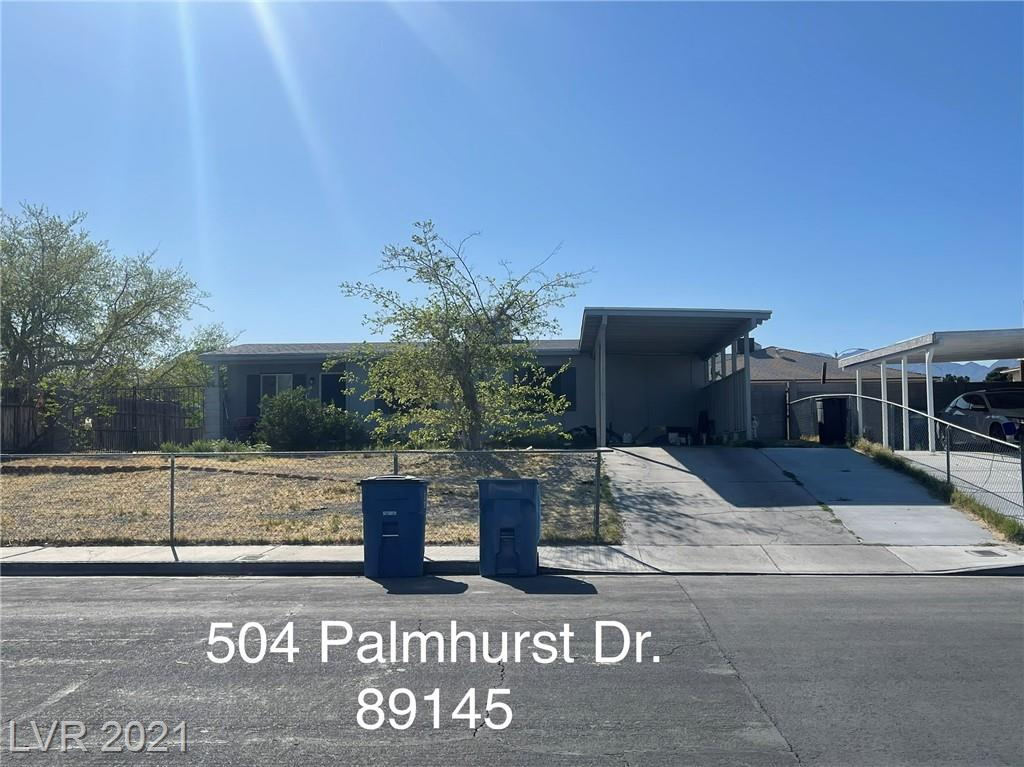 504 Palmhurst Drive Property Photo - Las Vegas, NV real estate listing