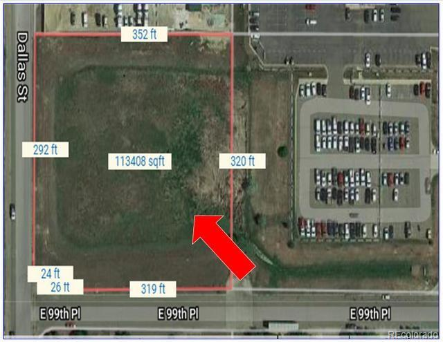 Corner of 99th Pl and Dallas St Property Photo - Commerce City, CO real estate listing