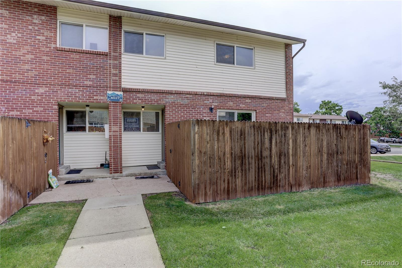 8027 Wolff Street #D Property Photo - Westminster, CO real estate listing