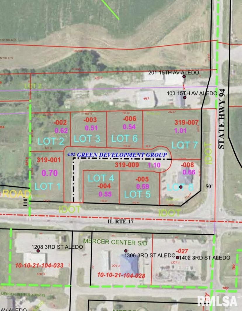 Lot 7 SE 13TH Property Photo - Aledo, IL real estate listing