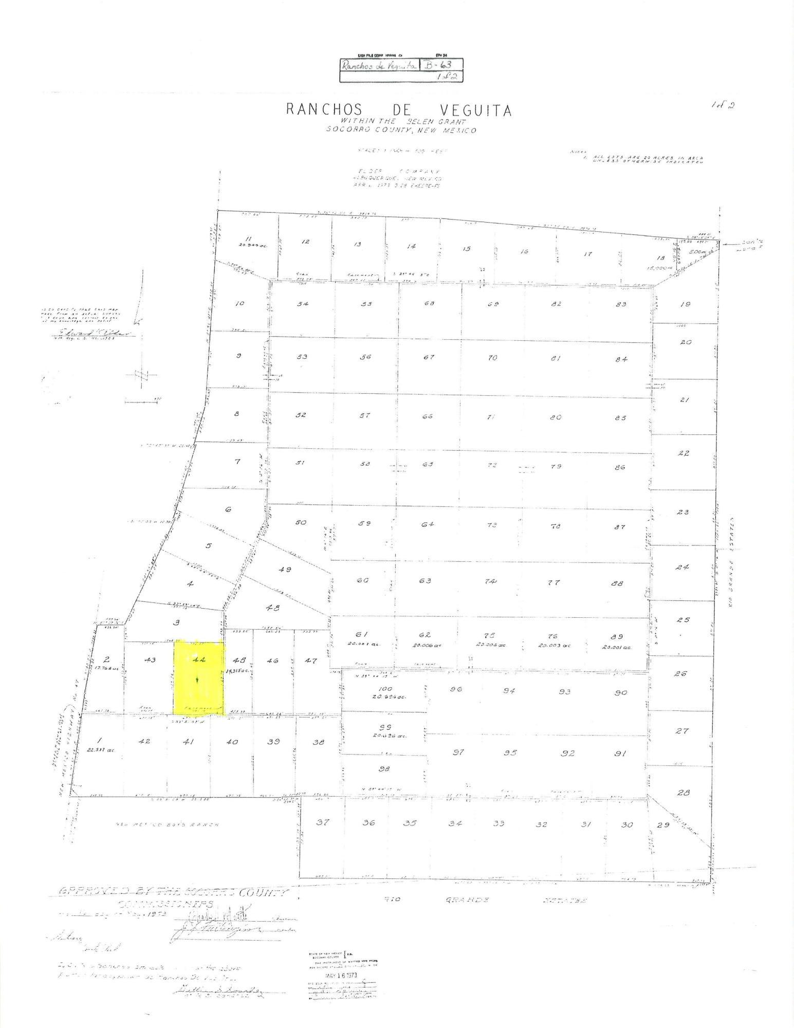 Lot 44 Property Photo - Veguita, NM real estate listing