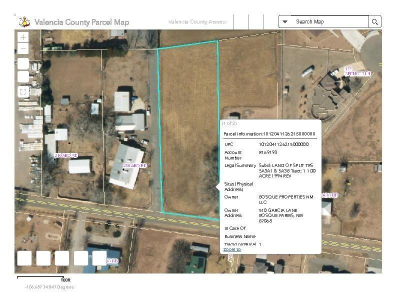 Abo Road Property Photo - Bosque Farms, NM real estate listing